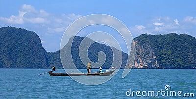 Fishing on Phang Nga Bay, Thailand