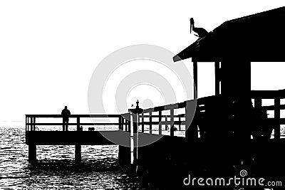 Fishing Pier 2 B&W