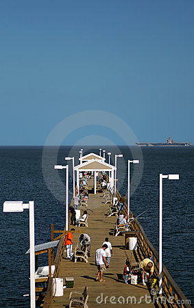 Fishing Pier And Battle Ship