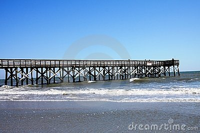 fishing pier on beach