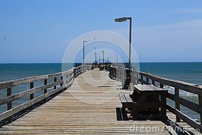 Fishing Pier Boardwalk Outer Banks North Carolina