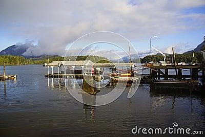 Fishing pier near tofino vancouver island stock photos for Fishing piers near me