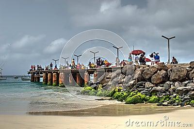 A fishing pier near the town santa maria sal island for Fishing piers near me