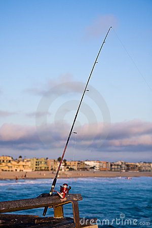 Fishing Pole on a Pier