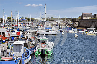 Fishing port of Concarneau in France
