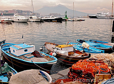 The fishing port of Naples