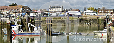 Fishing port of Ouistreham in France