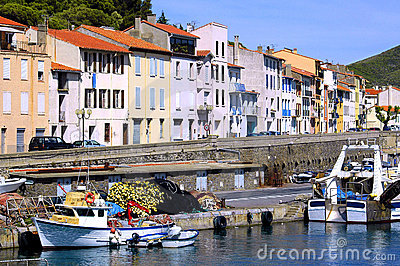 Fishing port of Port Vendres in France