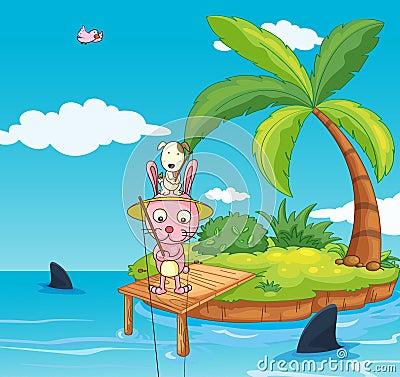 Fishing rabbit