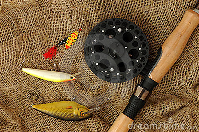 Fishing rod with accessories