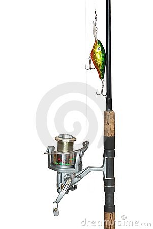 Free Fishing-rod From Spinning-wheel Stock Images - 13159354