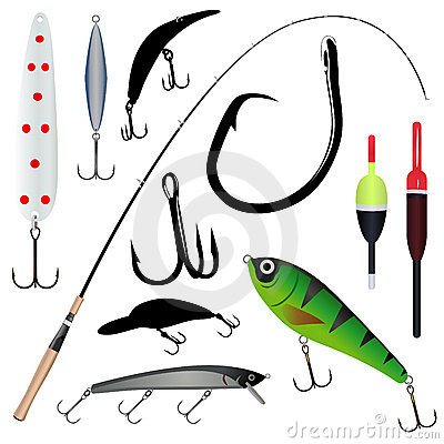 Free Fishing Rod, Hook Royalty Free Stock Photography - 8844977