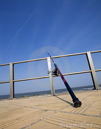 Fishing rod at the seaside
