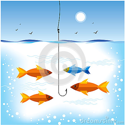 Fishing in sea