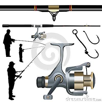 Fishing set vector
