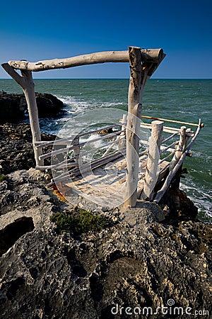 Fishing station Puglia Italy