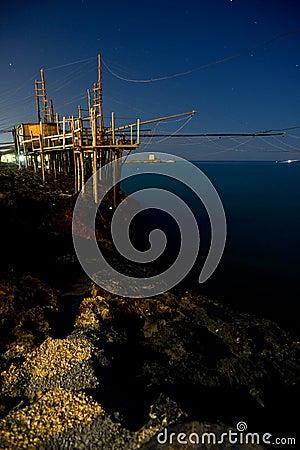 Fishing station Trabucco Italy