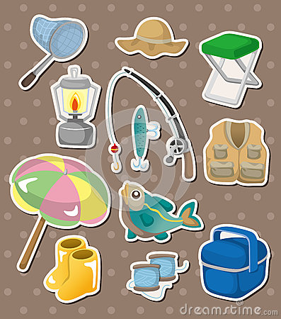 Free Fishing Stickers Stock Photos - 26083463