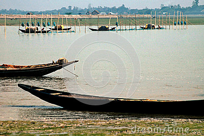 Fishing at Sunderban Editorial Stock Photo