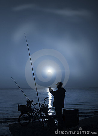 Fishing at sunrise-1.