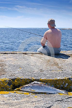 Fishing on Swedish coast