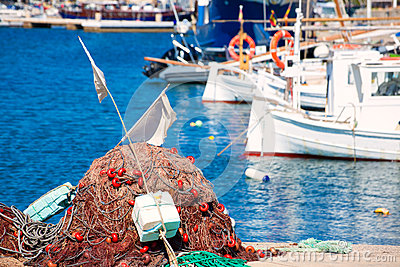 Fishing tackle in Formentera Mediterranean islands