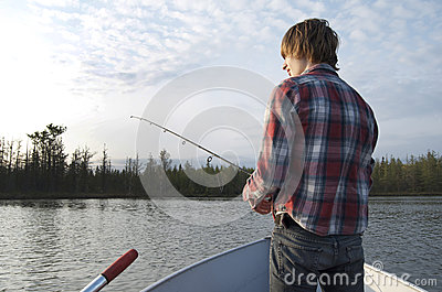 Fishing Teen Boy