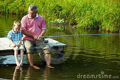 Fishing Time Royalty Free Stock Images - Image: 15738369