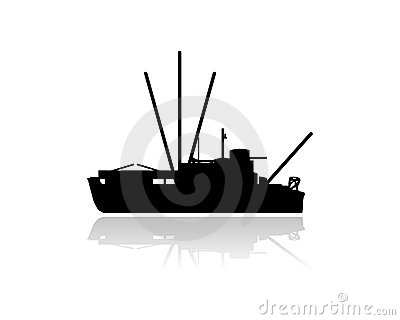 Fishing vessel boat silhouette