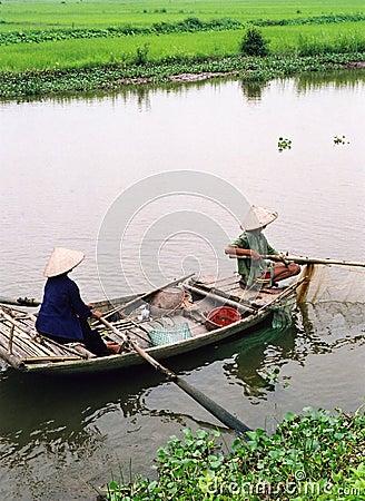 Free Fishing, Vietnam Style Royalty Free Stock Image - 142626