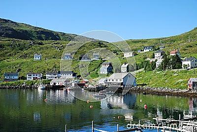 Fishing village Akkarfjord in Soroya.