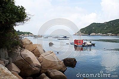 Fishing village harbor