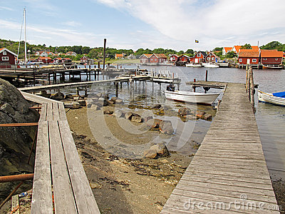 Fishing village, Kosterhavet Editorial Stock Photo