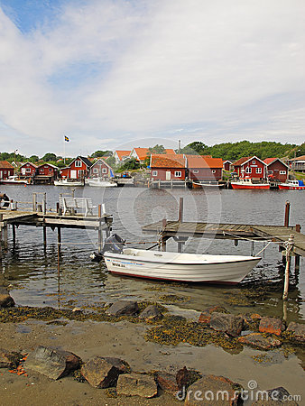 Fishing village, Kosterhavet Editorial Photography