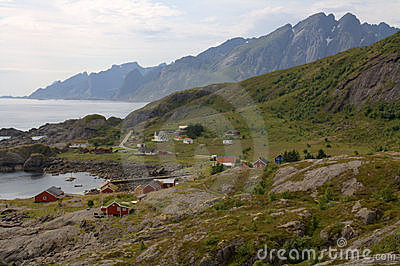 Fishing village in Lofoten