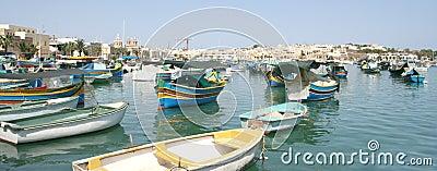 Fishing village of Marsaxlokk, Malta