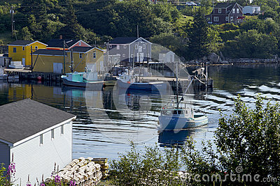 Fishing Village of Northwest Cove, Nova Scotia Editorial Stock Photo