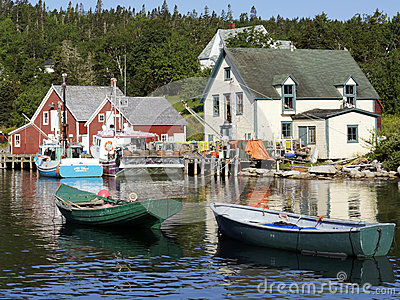 Fishing Village of Northwest Cove, Nova Scotia Editorial Photo