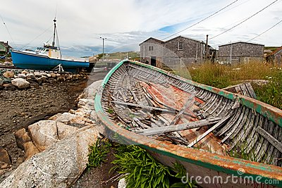 Fishing village, nova scotia