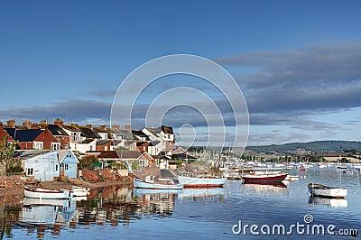 Fishing village port