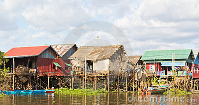 Fishing Village on stilts Cambodia