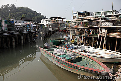 Fishing village Tai O Editorial Photography