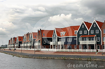 Fishing village of Volendam Holland Editorial Photo