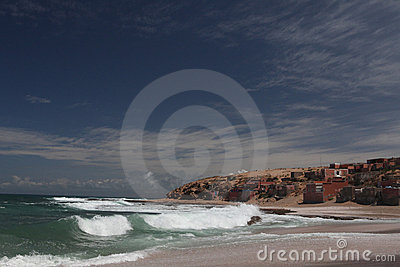 Fishman Village on Atlantic ocean in Marocco