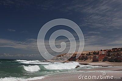 Fishman Village on Atlantic ocean in Marocco