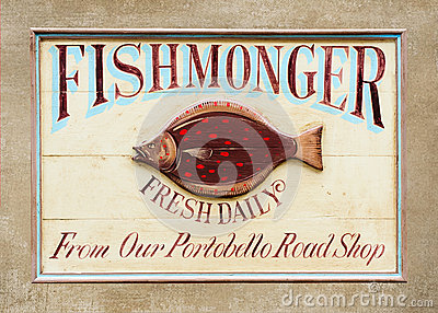 Fishmonger Sign