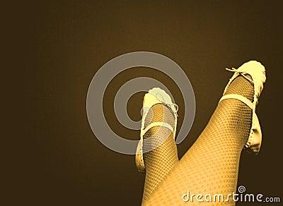 Fishnet Ballet (Yellow)