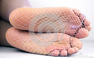Fishnet nyloned soles