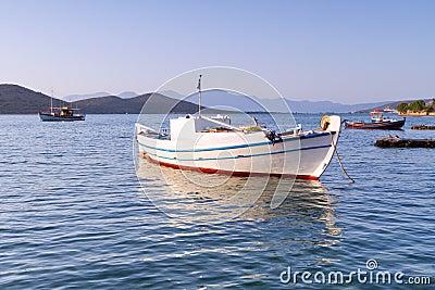Fising boat at the coast of Crete