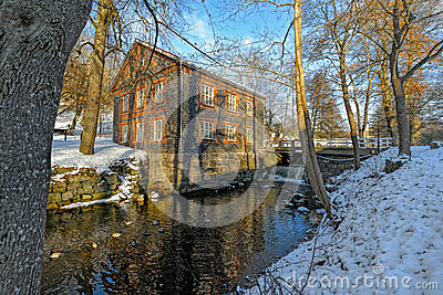 Old Snow Covered Quarry Mill Photograph by George Oze